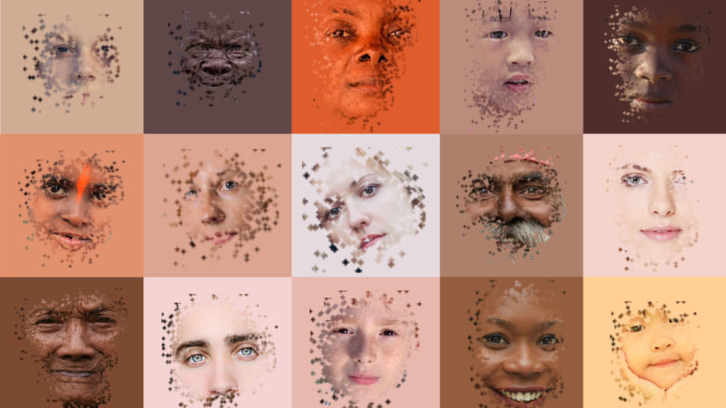 I colori della pelle. Un campionario infinito.